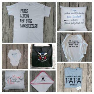 Baby Bodys, Kissen, Schürzen, T-Shirts